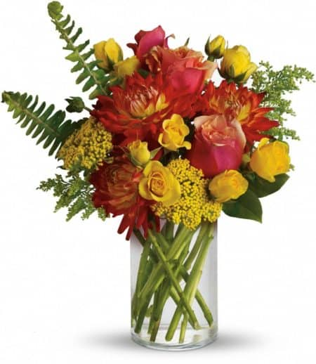 Dahlias in Fall Bouquet